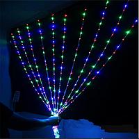 Гирлянда штора внутренняя Занавес/curtain 1,5mх2,5m 480 Led цветная ZN Цвет провода: черный