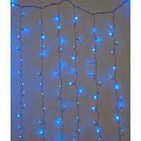 Гирлянда штора внутренняя Занавес/curtain 1,5mх2,5m, 480 Led Синяя ZN Цвет провода: Прозрачный