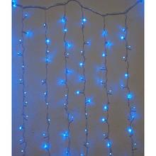 Гирлянда штора внутренняя Занавес/curtain 2,0mх2,0m, 320 Led синяя с мерцанием FMF Цвет провода: Прозрачный