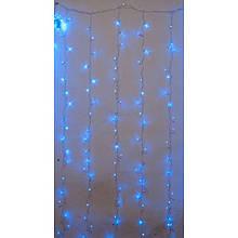 Гирлянда штора внутренняя 3м*3м, 640 Led синяя ZX Цвет провода: Прозрачный