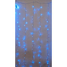 Гирлянда штора внутренняя Синая Занавес/curtain 3,0м*3,0м, 480 Led ZX Цвет провода: Прозрачный