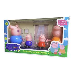 """Набор героев мультика """"Свинка Пеппа"""" / Peppa pig (4в1) - большая семья Пеппы scs"""