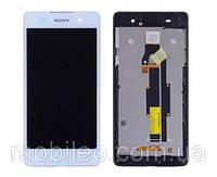 Дисплей (LCD) Sony F3311 Xperia E5 с тачскрином и рамкой, белый
