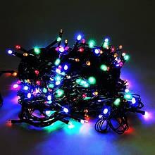 Гирлянда Синяя 400 LED Длина 28м (Чёрный провод) FD