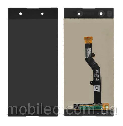 Дисплей (LCD) Sony G3412 Xperia XA1 Plus Dual с тачскрином чёрный