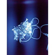 Гірлянда Нитка (String) холодно білого на білому дроті з мерехтінням 10 Метр/ 100 led - IP44 KX