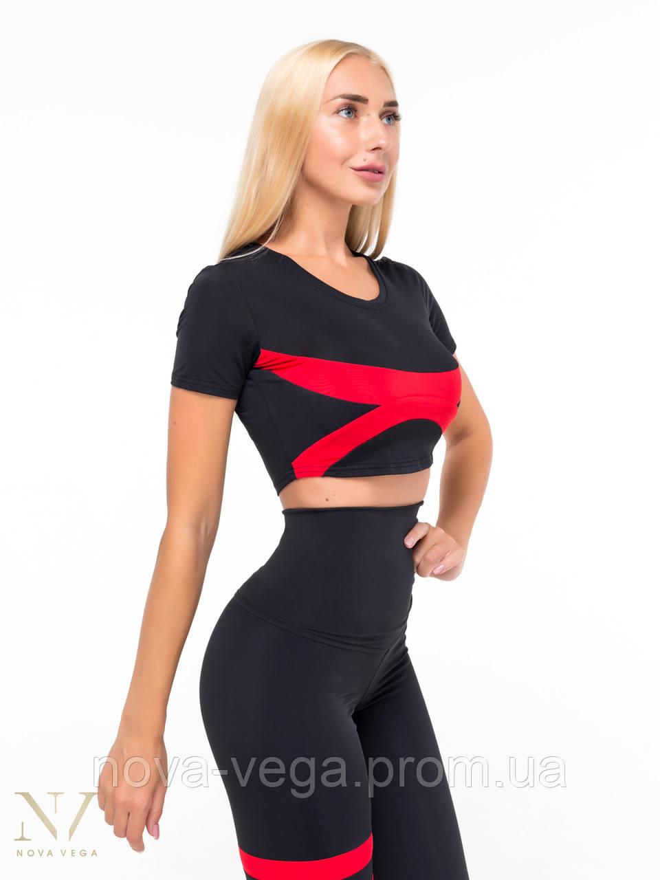 Спортивный Женский Топик Nova Vega Black&Red