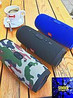 Колонка JBL charge 3 камуфляж черный красный синий, фото 1