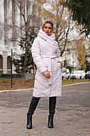 Красивое женское пальто интересного кроя