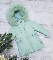 Зимняя куртка 18-6 на 100% холлофайбере размеры от 86см до 110см рост, фото 1