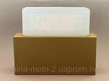 VST865 годинник з цифровим циферблатом, білі з червоними цифрами