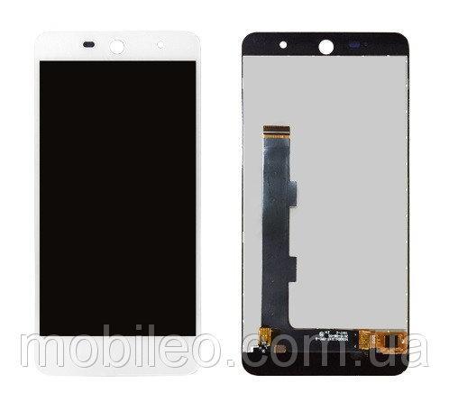Дисплей (LCD) WileyFox Swift 2 Swift 2 Plus с тачскрином, белый