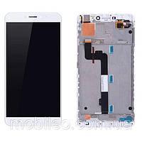 Дисплей (LCD) Xiaomi Mi Max 2 с таскрином и рамкой, белый