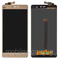 Дисплей (LCD) Xiaomi Mi 4s | Mi4s с тачскрином, золотой