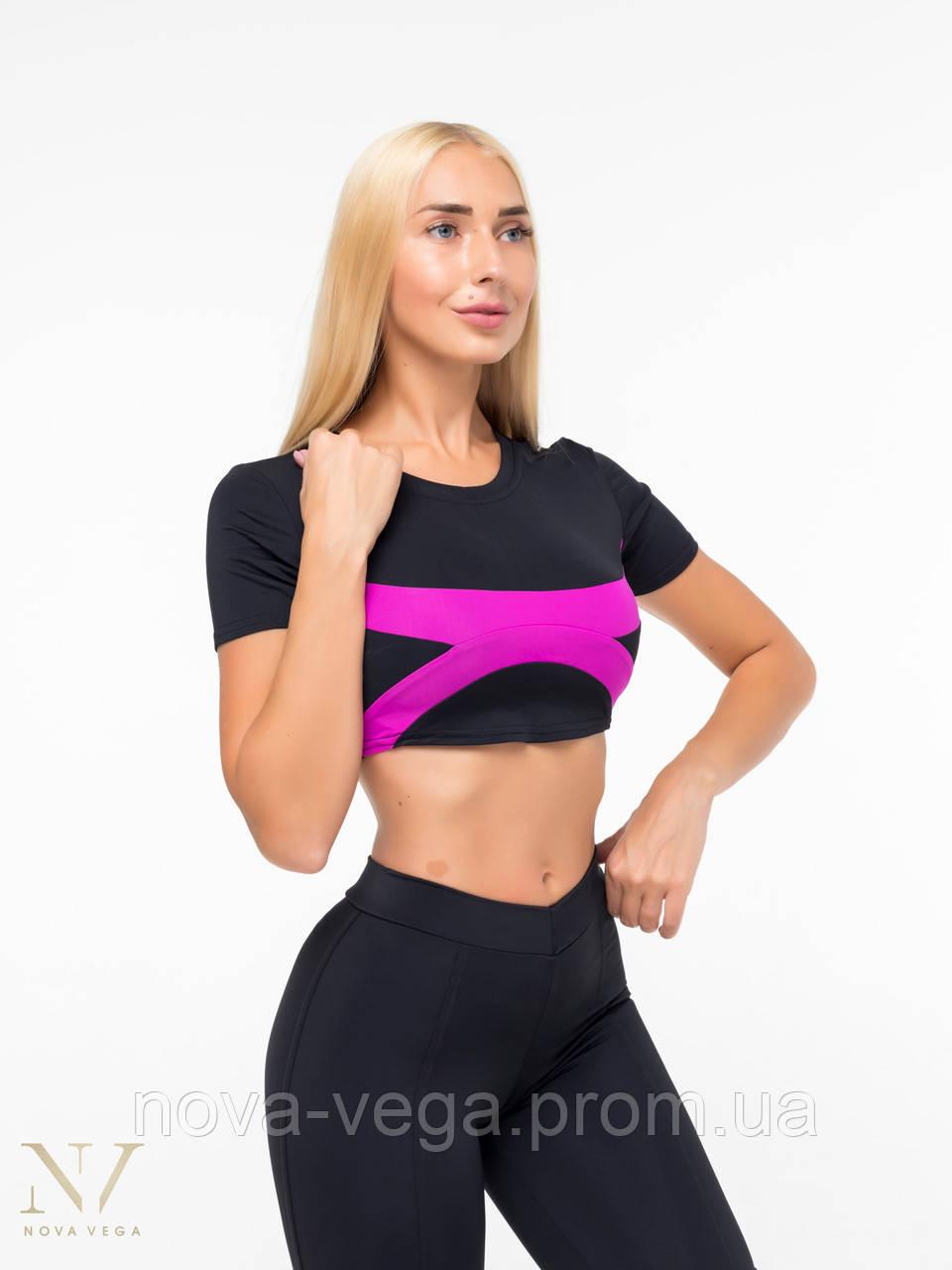 Спортивный Женский Топик Nova Vega Black&Violet