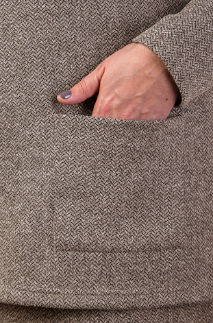 Жіночий трикотажний костюм-двійка в батальном розмірі, фото 2