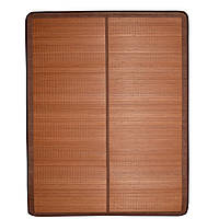 Покрывало циновка бамбук 150х195 см раскладное не лакированное коричневое (47702.001)
