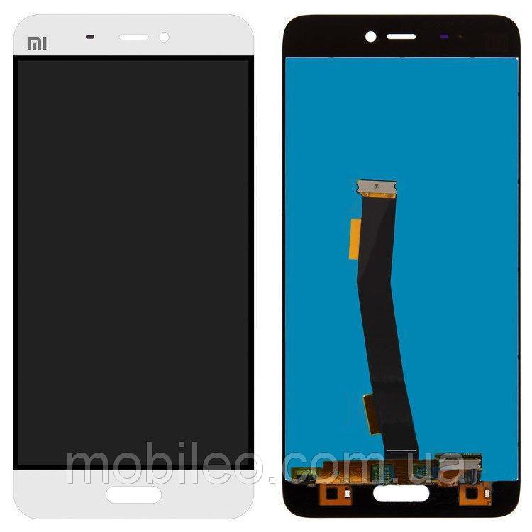 Дисплей (LCD) Xiaomi Mi 5 | Mi5 | Mi 5 Pro | Mi 5 Pro с тачскрином, белый оригинал (PRC)