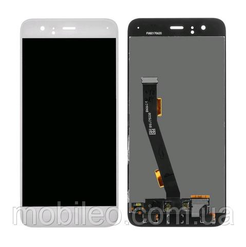 Дисплей (LCD) Xiaomi Mi-6 з тачскріном і кнопкою, білий сервісний оригінал