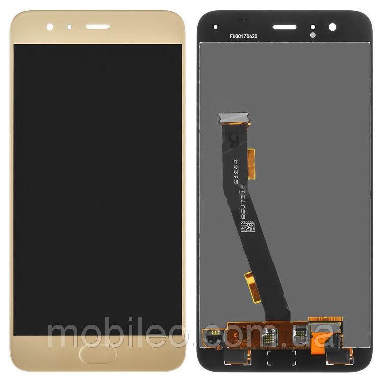Дисплей (LCD) Xiaomi Mi6 с тачскрином, золотой оригинал (PRC)