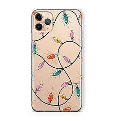 Чехол силиконовый новогодний на iPhone 11 / 11 Pro / 11 Pro Max, с гирляндой