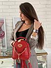 Женский рюкзак эко кожа PU чёрный розовый сиреневый красный 22х19, фото 6