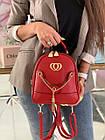 Женский рюкзак эко кожа PU чёрный розовый сиреневый красный 22х19, фото 8