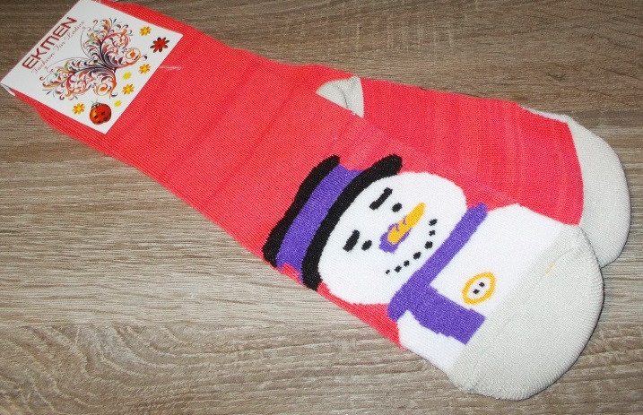 Носки махровые новогодние Ekmen размер 36-40 Турция