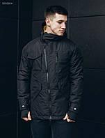 Куртка с капюшоном мужская Staff black asymmetry