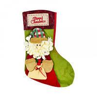 "Новогодний носок для подарков ""Санта Клаус"""