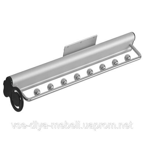 Вешалка выдвижная для ремней и галстуков, алюминий/хром GTV (WW-PASEK0-05)