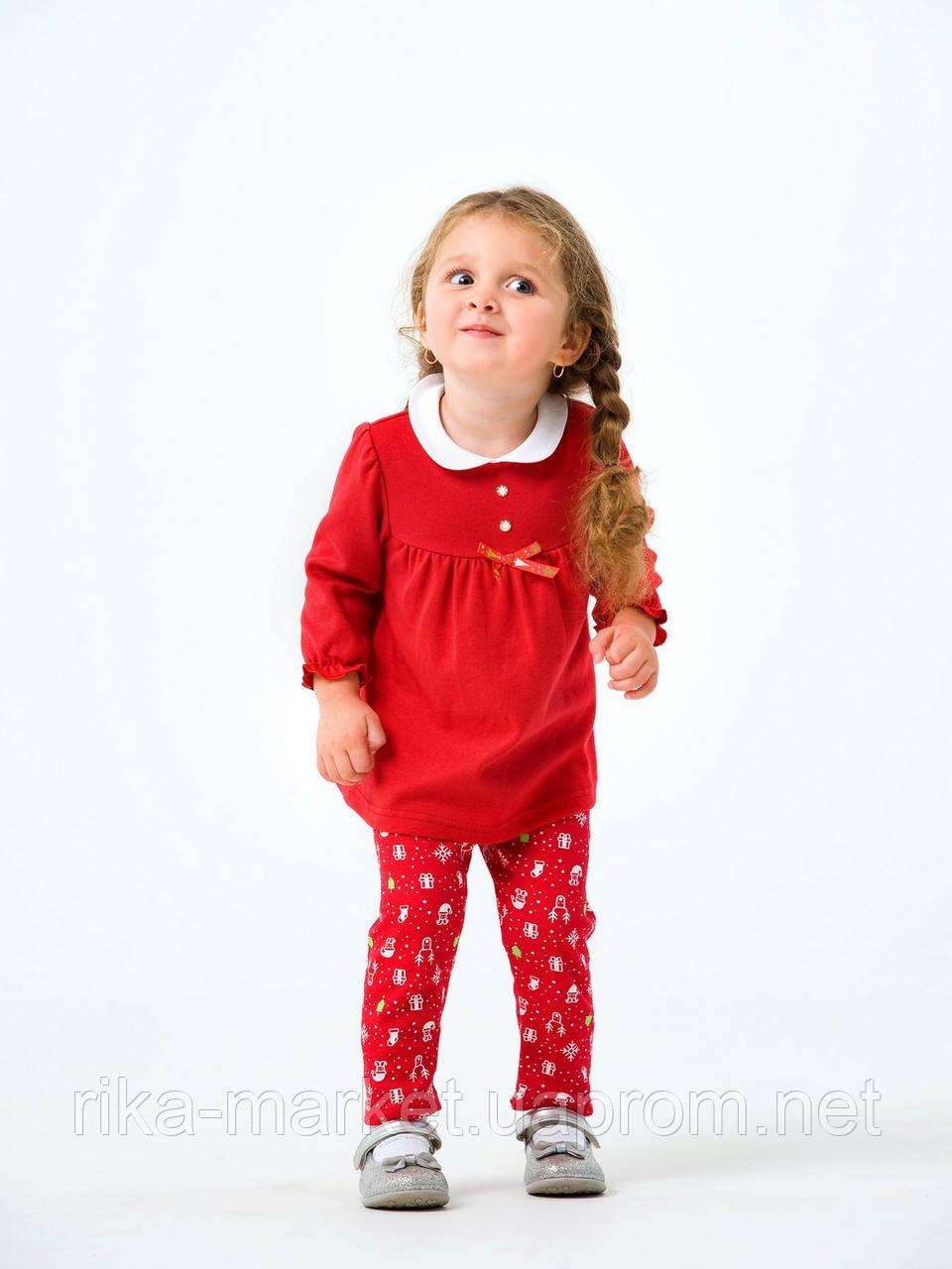 Комплект платье и лосины для девочки Smil в коробке, 109977, от 2 до 3 лет
