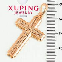 Крестик  xuping  длина 4.2см медзолото к307