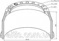 3464230101 / Гальмівний барабан 410x180 MERCEDES-BENZ Actros, Atego, Axor, L 2638, MK, NG, O 371, O 400, O 500, SK