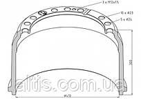 6174230101 / Гальмівний барабан 410x180 MERCEDES-BENZ ATRON, L-Serie / Gen. 4, O 371, O 400, O 500