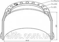 81501100241 / Гальмівний барабан 410x180 MAN E90, E2000, F90, F2000, L2000, M90, M2000L, M2000M, TGA, TGM, TGS, TGX