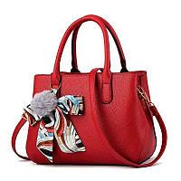 Женская сумка эко кожа PU чёрный розовый бордовый красный 20х30, фото 1