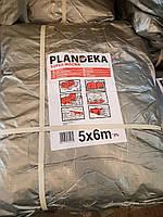 Тент Tenexim Super Mocny 5x6 м. Тарпаулін 160 г/м2, срібний з УФ-захистом