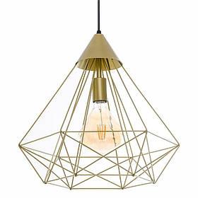 Люстра подвесная на одну лампу  Pyramid P350 Золото (1351)