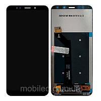 Дисплей (LCD) Xiaomi Redmi 5 Plus с тачскрином, чёрный