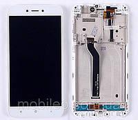 Дисплей (LCD) Xiaomi Redmi 5A | Redmi Go | MCG3B | MCI3B, с тачскрином и рамкой, белый