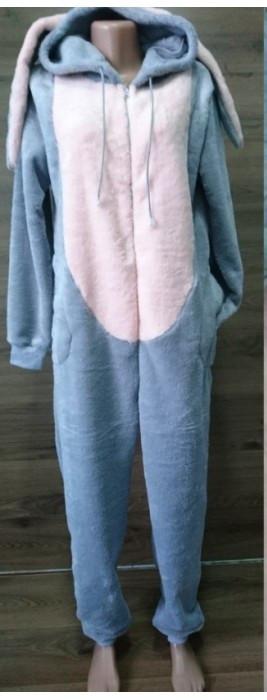 Пижама кигуруми с капюшоном и ушами для детей от 10 лет