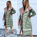 Двусторонняя стеганая куртка-плащ, фото 8