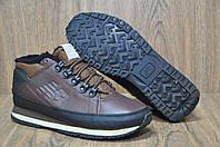 Мужские ботинки коричневые на меху натуральная кожа New Balance 754