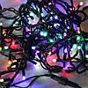 LED гирлянда цветная 400 Led длина 28 м Чёрный провод 189760, фото 2