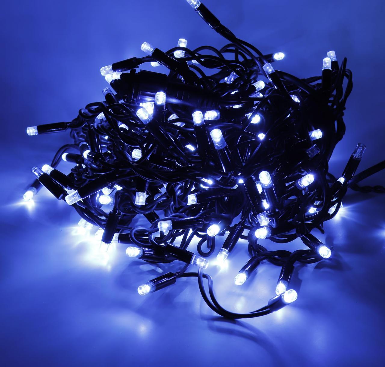 LED гирлянда цветная 400 Led длина 28 м Чёрный провод 189760