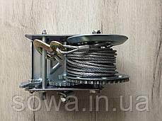 ✔️ Лебедка автомобильная барабанная Euro Craft 2500 фунтів/1500кг, фото 2