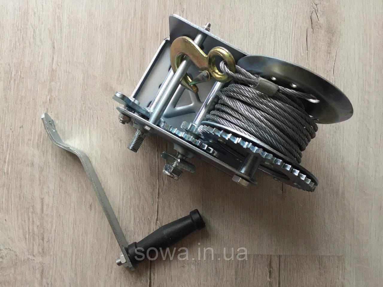 ✔️ Лебедка автомобильная барабанная Euro Craft 2500 фунтів/1500кг