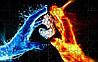 Пазл - Любов води і вогню 180х130 мм