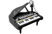 Детское пианино синтезатор Baoli с микрофоном 24 клавиши (черный)